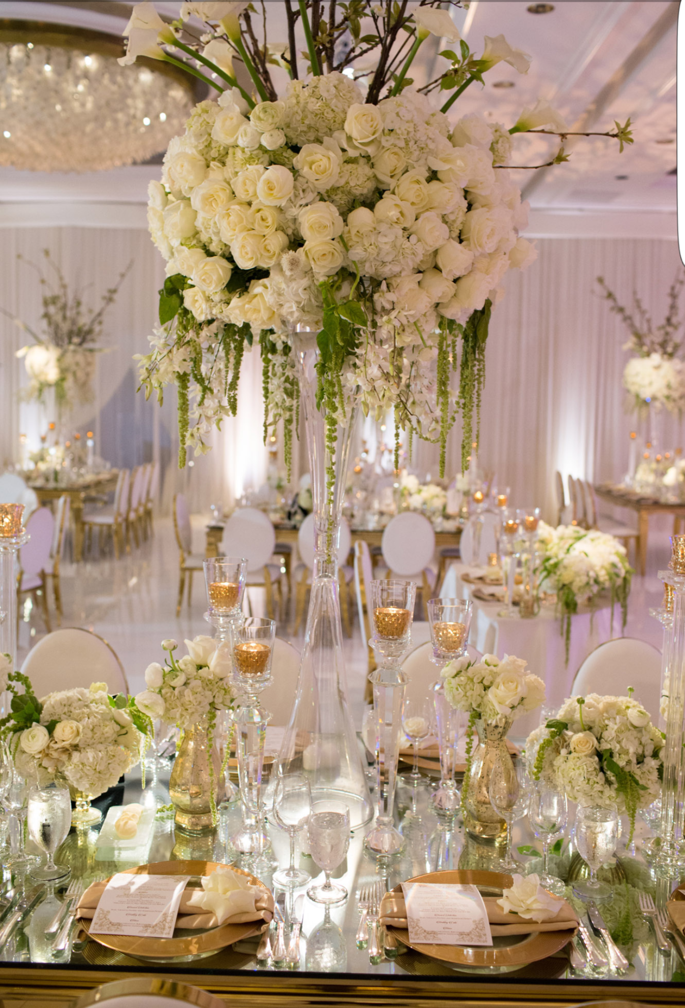 Modern White Theme Wedding After Eight Event Productions