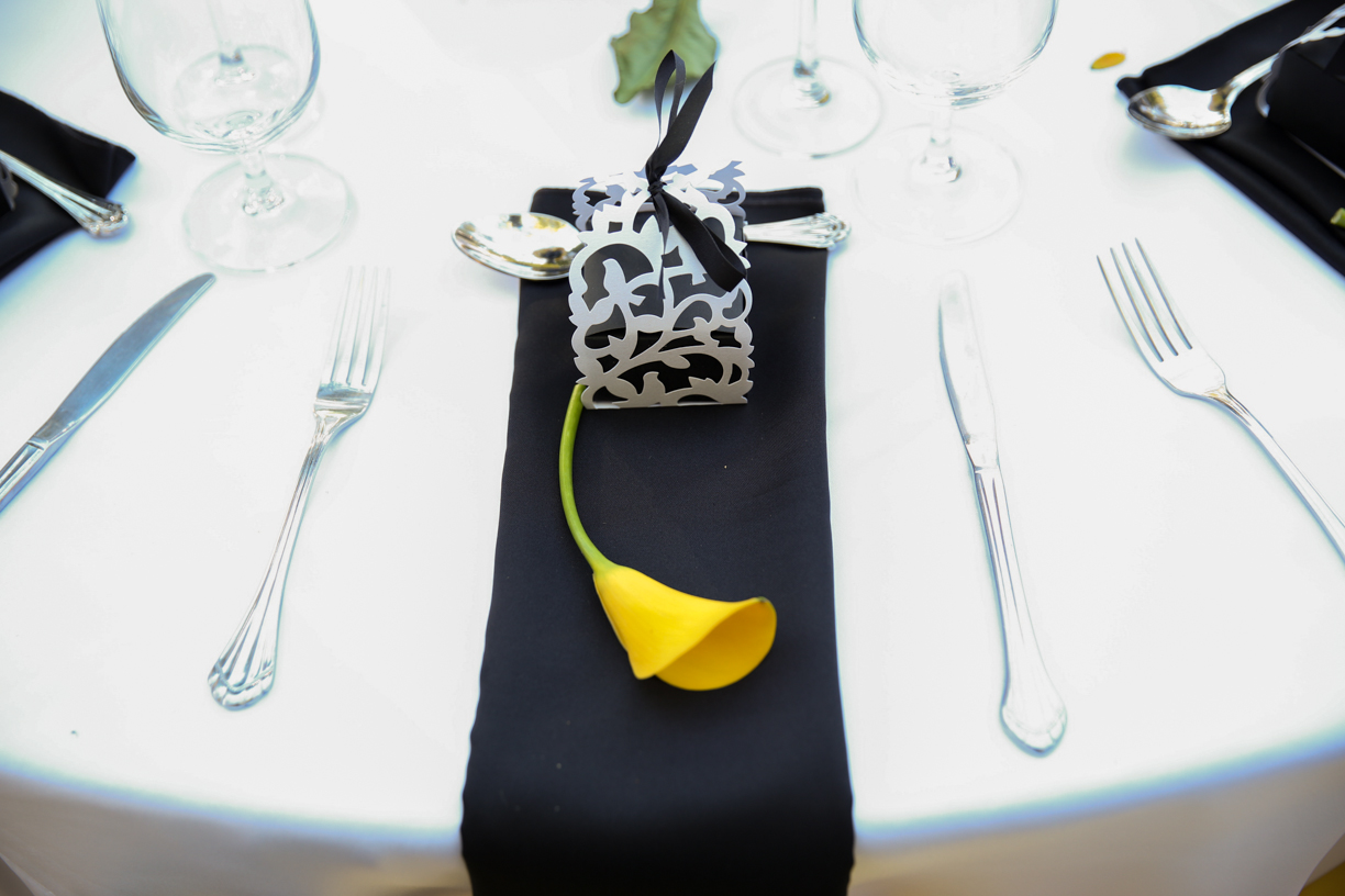 Yellow & white & Black Theme Wedding – After Eight Event Productions